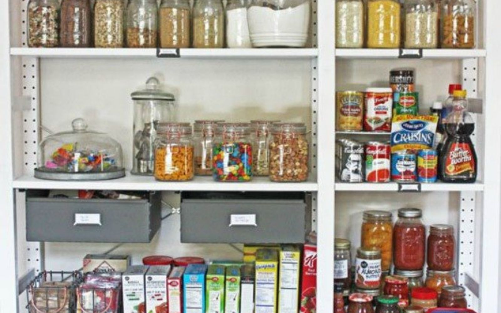 s add more pantry space with these brilliant hacks, closet, Get open pantry shelving with IKEA shelves