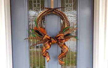 Autumn Feather Wreath DIY