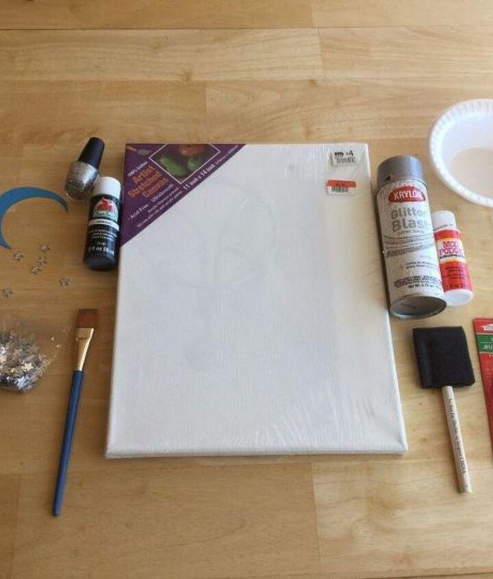 easy light up canvas art, crafts