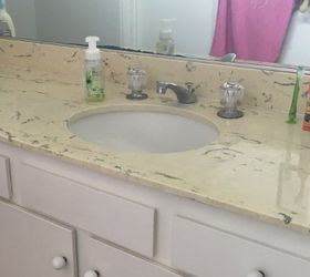 How To Update An Old Countertop To Look Like Beautiful Marble, Countertops,  Flooring,