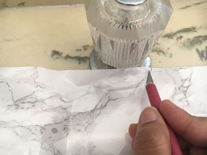 how to update an old countertop to look like beautiful marble, countertops, flooring, how to, tiling