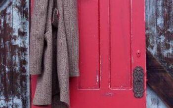 coat rack made from an old door, doors