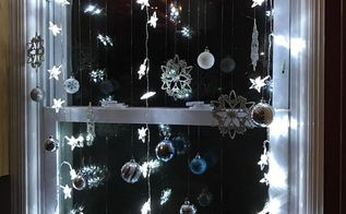 winter wonderland window display