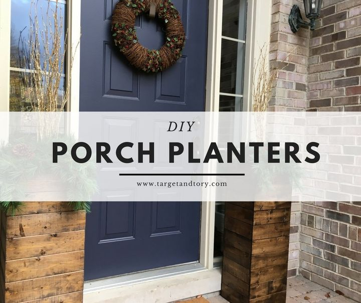 diy porch planters under 25, gardening