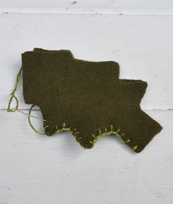 upcycled sweater and cookie cutter christmas ornaments, christmas decorations, seasonal holiday decor