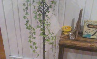 repurpose an old standing floor lamp into a plant stand, flooring, gardening, lighting