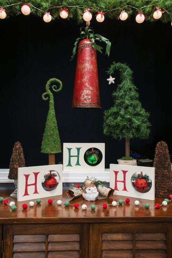 ho ho ho christmas decor, christmas decorations, home decor