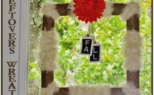 leftovers wreath, crafts, wreaths