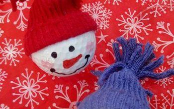 Snowman Ornaments ~ From Golf Balls!