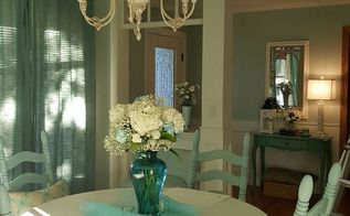 charming farmhouse style table and chairs makeover, painted furniture