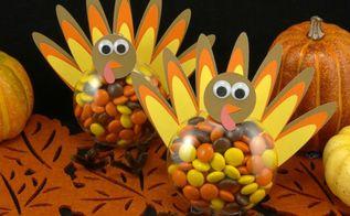 diy thanksgiving turkey treats candy filled