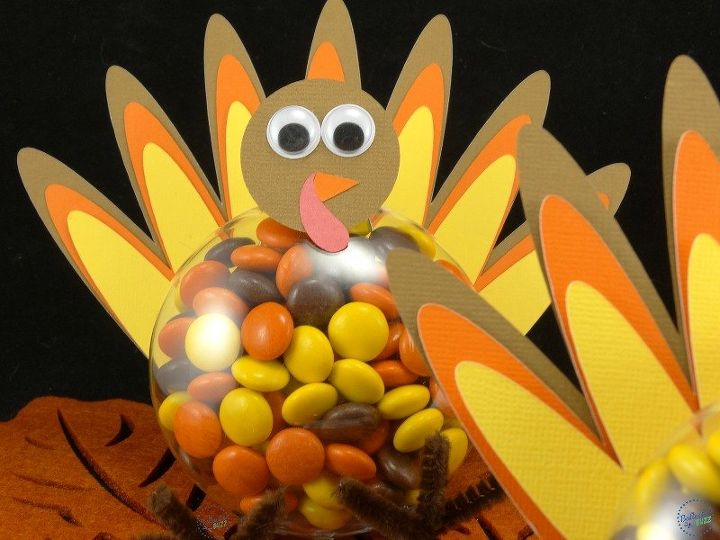 diy thanksgiving turkey treats candy filled