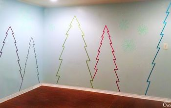 Use Washi Tape to Make a Winter Wonderland on Your Walls