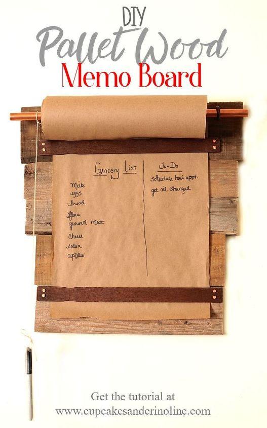 pallet wood memo board, pallet