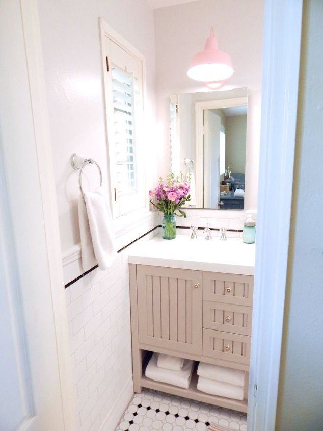 Tiny Bathroom Remodel On An Even Tinier Budget Hometalk Extraordinary Remodel Tiny Bathroom