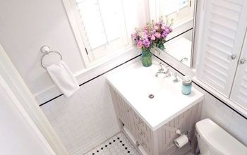 Tiny Bathroom Remodel On An Even Tinier Budget