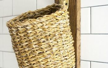 Reclaimed Wood Laundry Lint Basket Holder