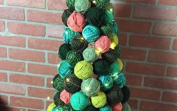 Yarn Ball Ornament Tree