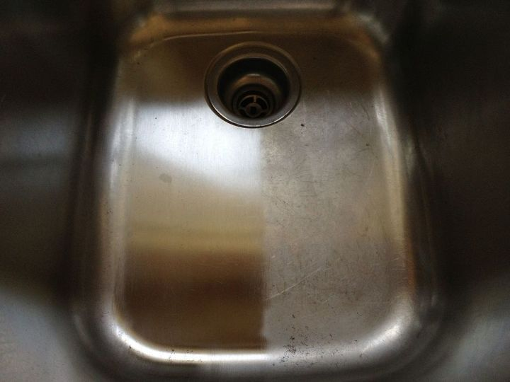 A way to clean and shine my stainless steel sink | Hometalk