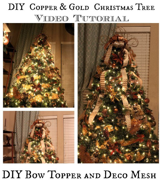 how to decorate a christmas tree with deco mesh bow topper tutorial how to