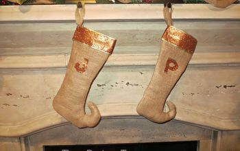 DIY Burlap Elf Stockings for Your Christmas Mantle