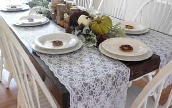 Rustic and Lace Thanksgiving Tablescape