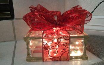 Plain Glass Block to Glowing Gift.