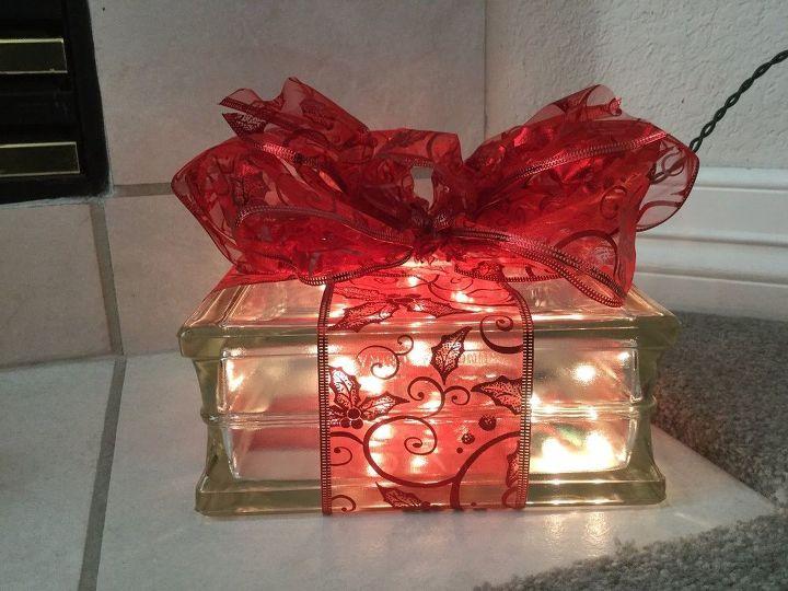 plain glass block to glowing gift