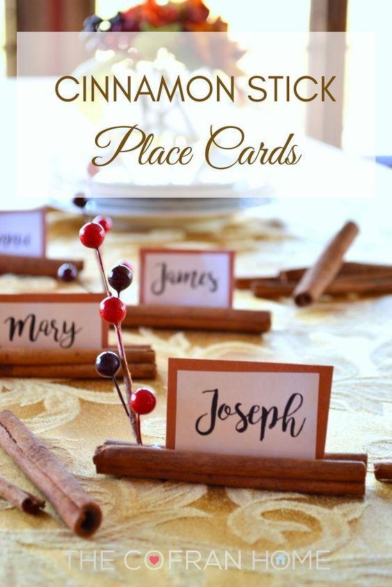 cinnamon stick place cards