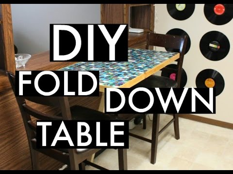 diy fold down table, painted furniture