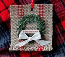 farmhouse jute christmas ornament, christmas decorations, seasonal holiday decor