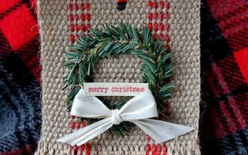 farmhouse jute christmas ornament, christmas decorations, seasonal holiday decor