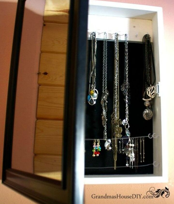 s 21 jewelry organizing ideas that are better than a jewelry box, organizing, This hidden jewelry cabinet with a mirror