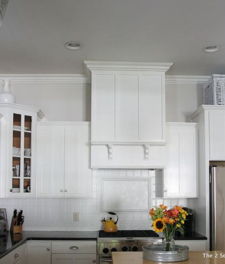 A Homeowner Hangs A Board From Her Kitchen Ceiling A Few Steps