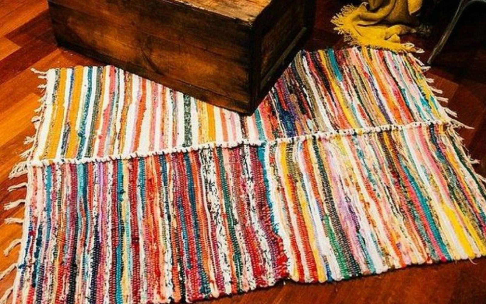 s transform dollar store rugs with these 11 stunning ideas, reupholster, Crochet some together to get a designer look