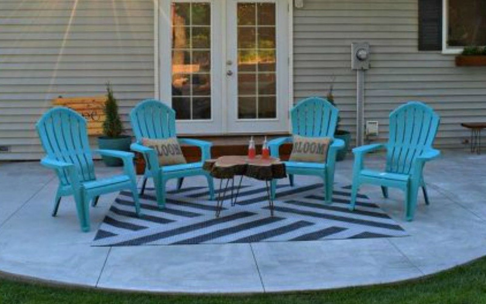 s transform dollar store rugs with these 11 stunning ideas, reupholster, Brighten up a cheap rug for your patio