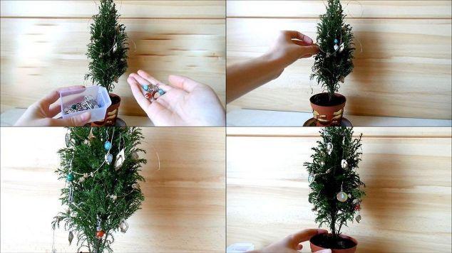 decorating a mini christmas tree cute diy tiny ornaments by fluffy christmas decorations seasonal - Mini Christmas Tree