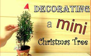 decorating a mini christmas tree cute diy tiny ornaments by fluffy, christmas decorations, seasonal holiday decor