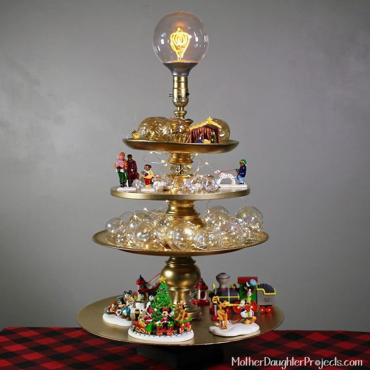 diy lamp christmas tree, lighting
