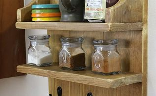 build a rustic coffee shelf, painted furniture, shelving ideas
