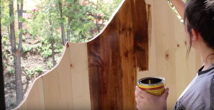 diy rustic headboard