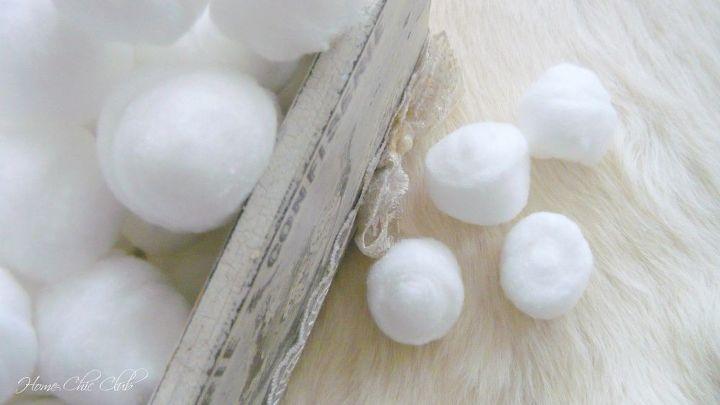 diy christmas cotton pom pom garland