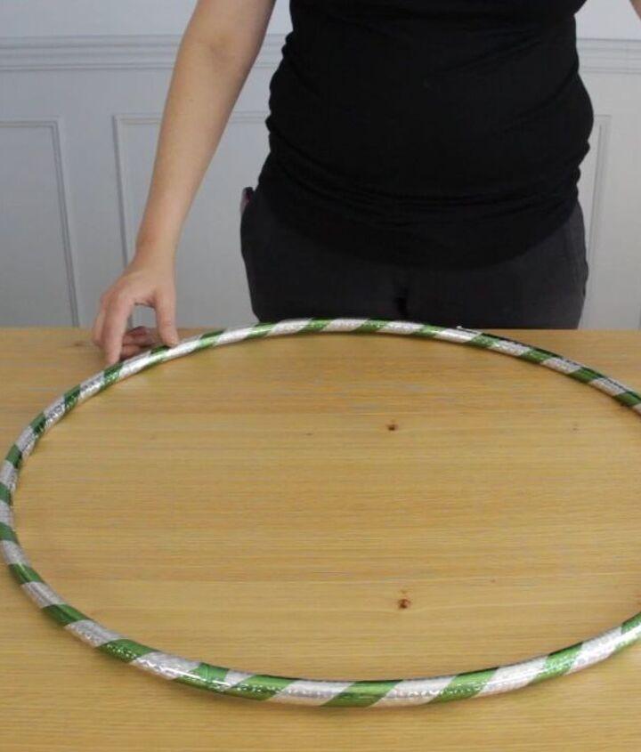 hula hoop christmas chandelier, lighting