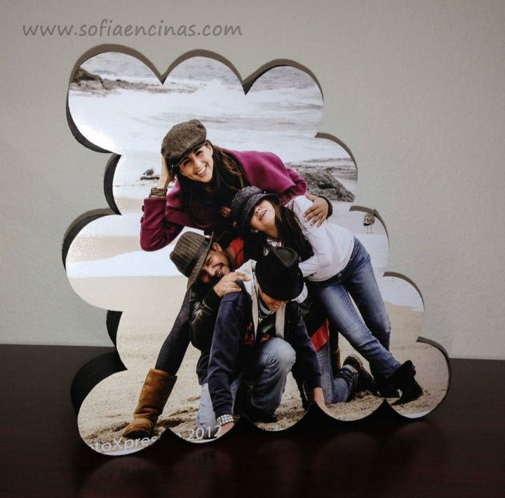 s 18 diy christmas gift ideas you ll want to keep for your home, home decor, This fun shaped photo frame