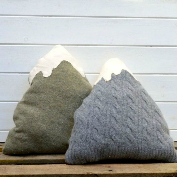 s 18 diy christmas gift ideas you ll want to keep for your home, home decor, These cuddly and comfy sweater pillows