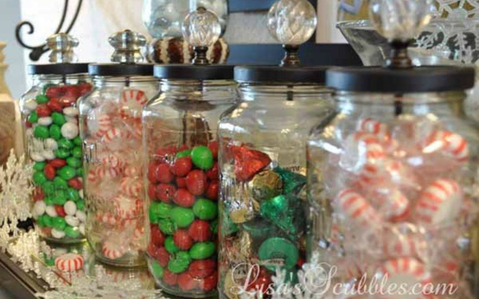 s 18 diy christmas gift ideas you ll want to keep for your home, home decor, These homemade crystal knob candy jars