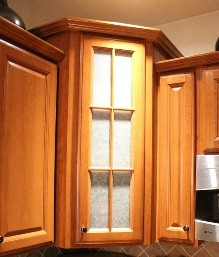 s transform your kitchen cabinets without paint 11 ideas , kitchen cabinets, kitchen design, Cover the glass doors with window film