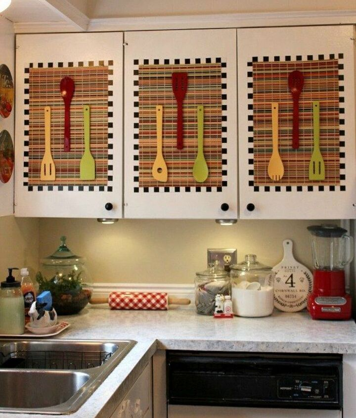 s transform your kitchen cabinets without paint 11 ideas , kitchen cabinets, kitchen design, Tack on placements and colorful utensils