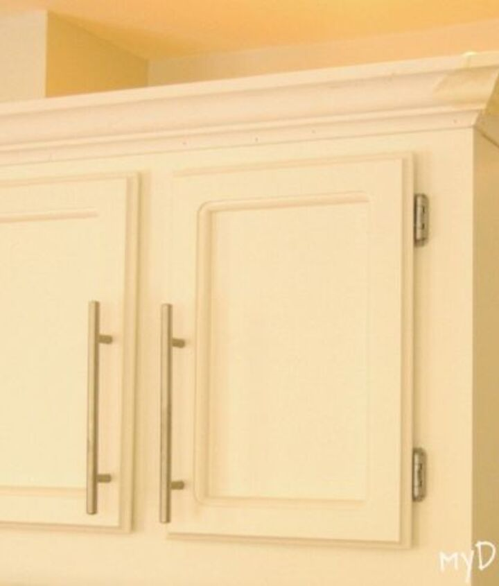 s transform your kitchen cabinets without paint 11 ideas , kitchen cabinets, kitchen design, Install some molding on the top