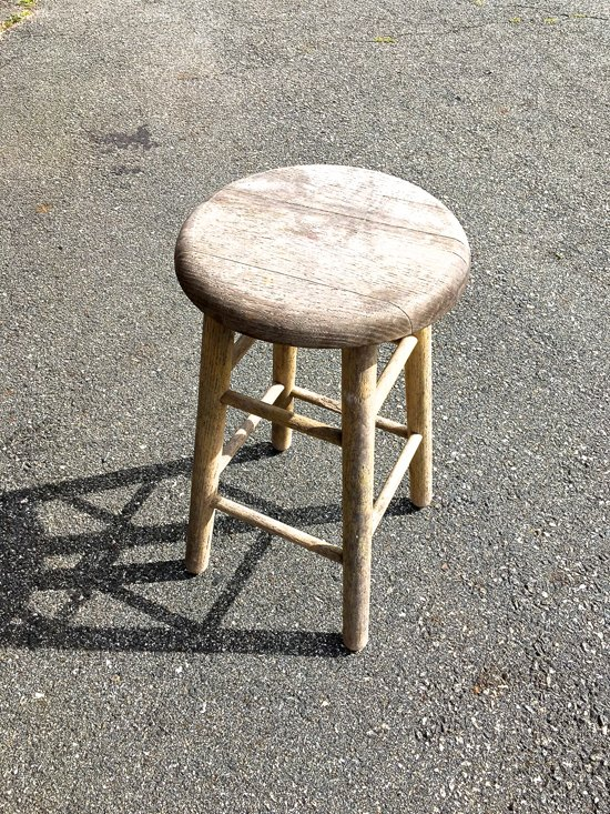 look how adorable this wooden stool is now